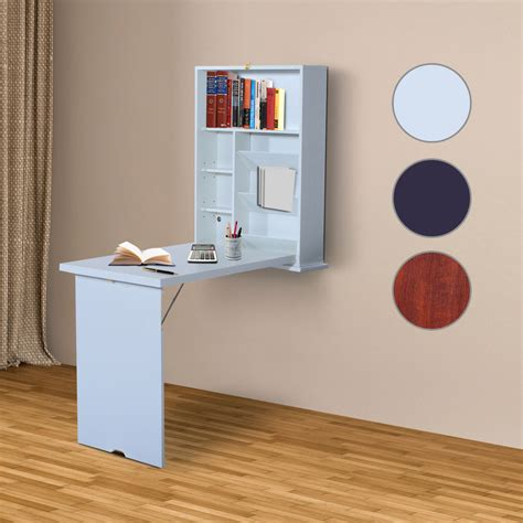 folding wall desk wall mount writing table convertible folding computer desk