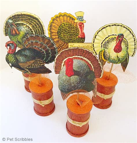 vintage thanksgiving decorations diy vintage thanksgiving decor placecards from pet scribbles