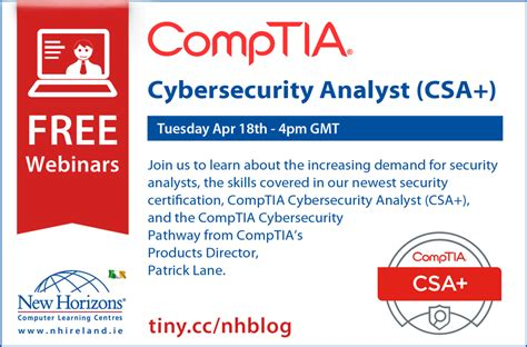 free it certifications new comptia cybersecurity analyst certification ireland