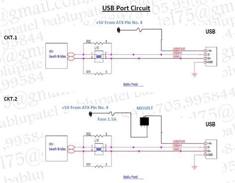 Bablu Notes Usb Port Circuit Diagram Its Problem