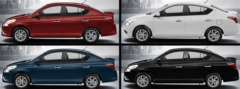 2018 Nissan Versa Sedan Color Options