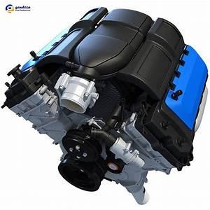 V8 3d Engine Model