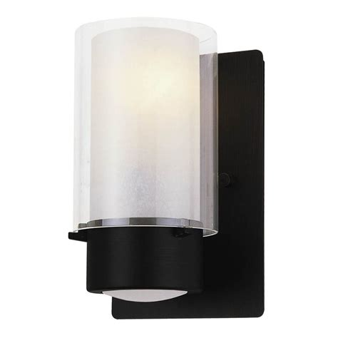 dvi essex 8 in w 1 light graphite arm wall sconce at lowes com