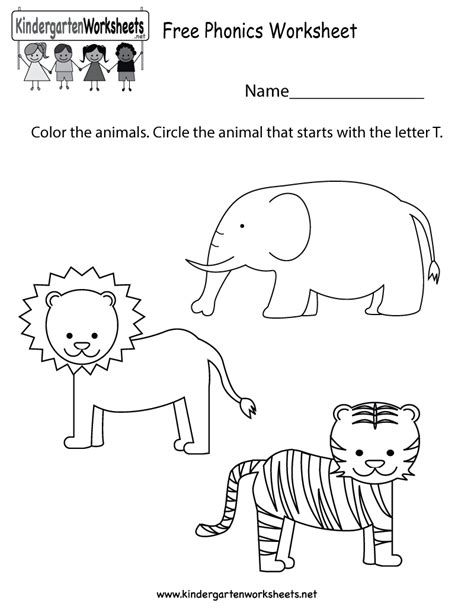 phonics worksheets for kindergarten pdf worksheets for all