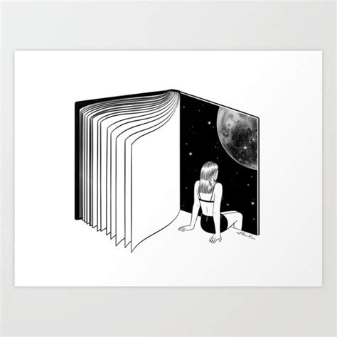 Reading Dreaming With Your Eyes Open Art Print Henn