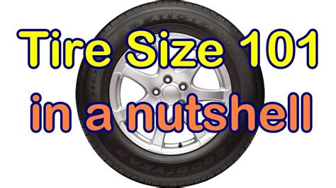 car tire size numbers  youtube