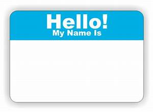 Hello My Name Is Clipart