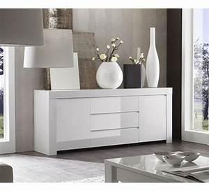 bahut salle a manger pas cher conceptions de maison With meuble bar moderne design 7 buffet bahut couleur blanc laqu et noyer contemporain donald