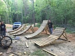 wooden jumps design arc height dimensions