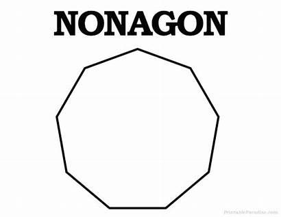 Nonagon Shape Shapes Printable Coloring Geometric Pages