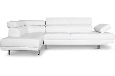 canape avec tetiere canapé d 39 angle droit blanc avec têtière relevable tilpa