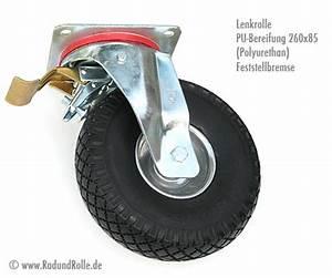Lenkrollen Mit Bremse : pannensichere transportrolle 260 x 85 mm mit festeller doppelstop bzw bremse ~ Eleganceandgraceweddings.com Haus und Dekorationen