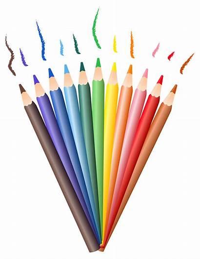 Pencil Transparent Pencils Clipart Drawing Colored Clip