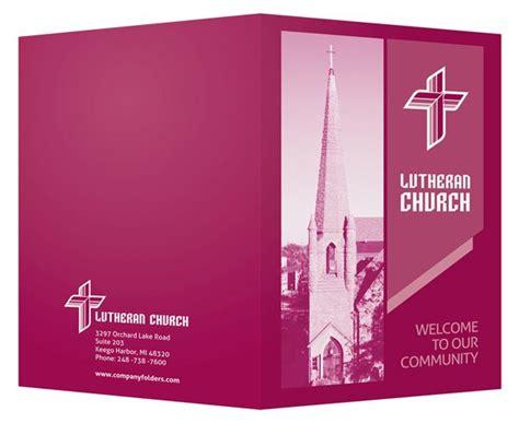 magenta lutheran church visitor folder design template