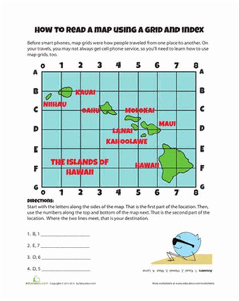 map grid worksheet education