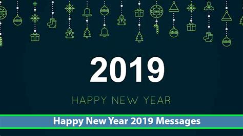 Happy New Year 2019 Message Wishes [new Year Messages