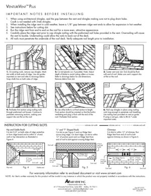 model wcgb attic fan air vent inc venturivent plus installation instructions