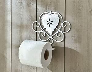 Dérouleur De Papier Toilette : d rouleur de papier toilette coeurs et volutes becquet ~ Teatrodelosmanantiales.com Idées de Décoration