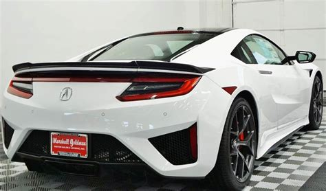 white  red  acura nsx  sale