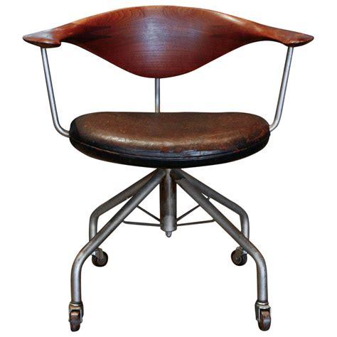 swivel chair by hans wegner denmark 1955 at 1stdibs
