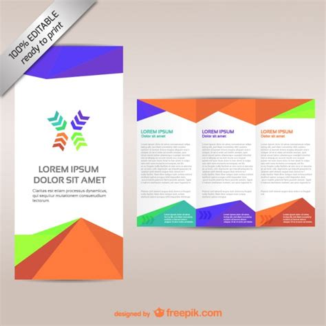 Three Fold Brochure Template Free by Colorful Tri Fold Brochure Template Vector Free