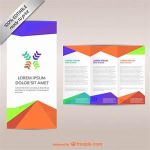 colorful tri fold brochure template vector free download With free vector brochure templates
