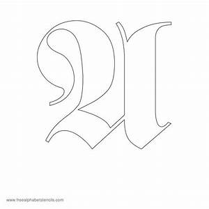 old english blackletter alphabet stencils With black letter stencils
