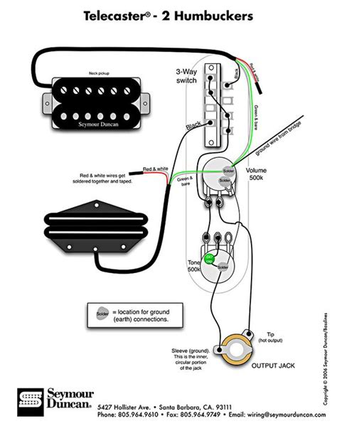 Tele Wiring Diagram With Humbuckers Telecaster Build