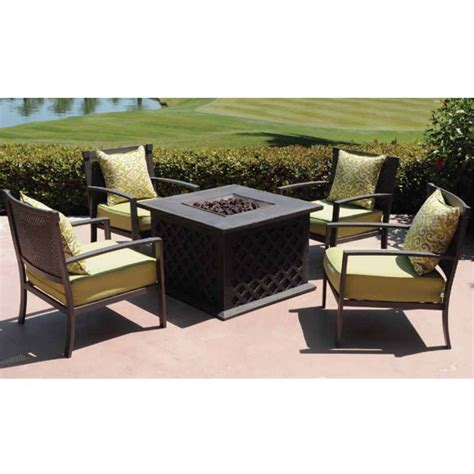 patio furniture fire pit table set patio set with fire pit table patio design ideas