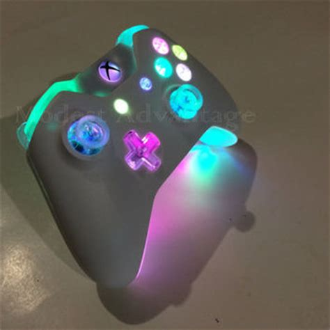 dark and light xbox one xbox one controller full led mod from abxymods on etsy xbox