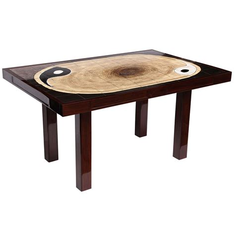 yin yang ceramic tile top table for sale at 1stdibs