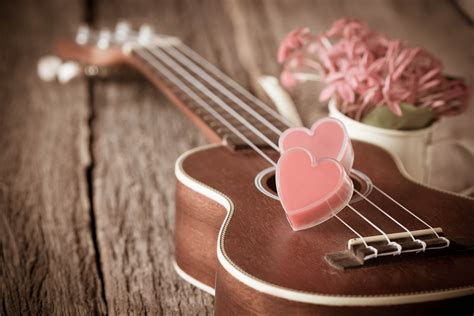 wallpaper valentines day heart guitar romantic