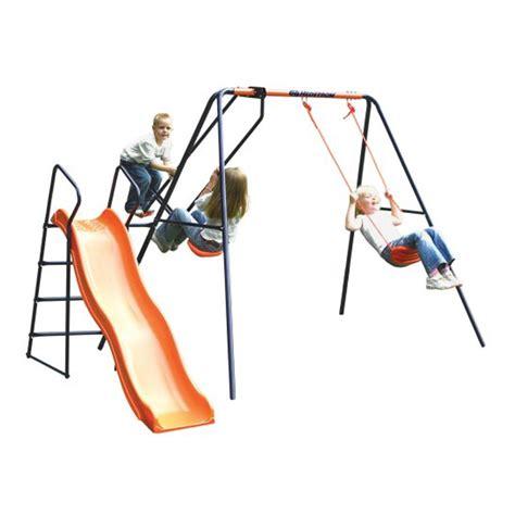 hedstrom swing set hedstrom saturn swing glider and slide combination all