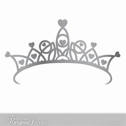 Crown Princess Clipart Decal Birthday Silver Tiara