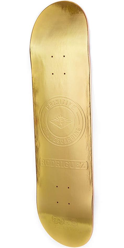 True Skate Primitive Decks by Primitive Paul Rodriguez Gold Bar Skateboard Deck