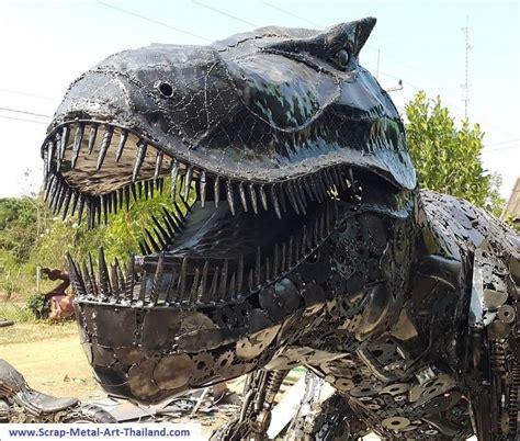 Huge Scrap Metal Sculptures From Thailand That Bring Your