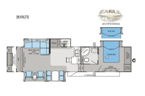 2012 Jayco 5th Wheel Floor Plans by 2012 Jayco Eagle 351rlts Fifth Wheel Cincinnati Oh