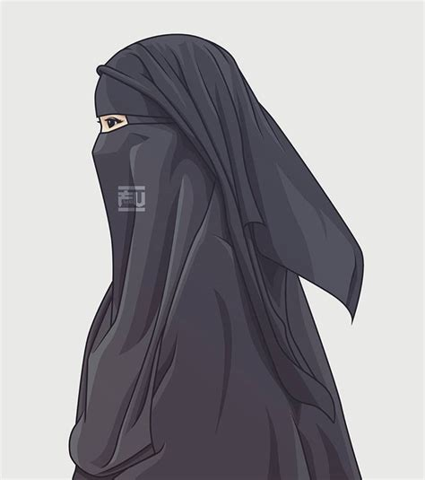 vector hijab niqab ahmadfu hijab   hijab drawing hijab niqab hijab cartoon