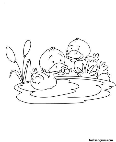 printable baby duck coloring page thema eenden kleuters