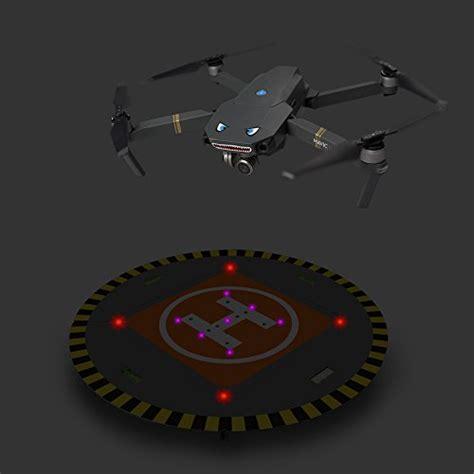 rcgeek drone landing pad launch pad  led lights extensible  dji mavic air spark dji tello