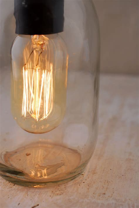 Gerson 6.5 Inch Electric Lighted Clear Mason Jar with