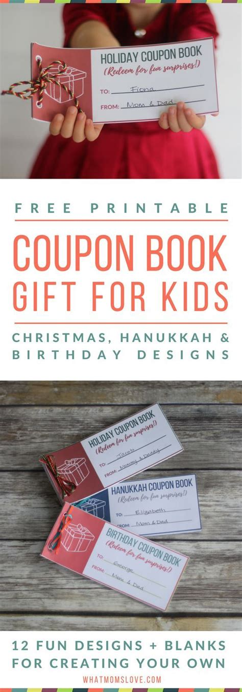 printable coupon book  perfect stocking stuffer