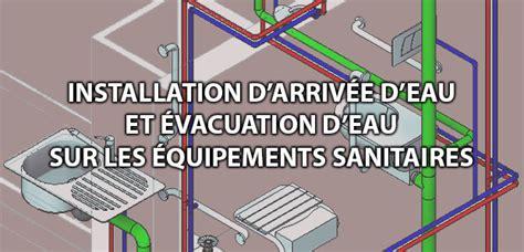 arrivee d eau salle de bain arriv 233 e et 233 vacuation des eaux sur les 233 quipements sanitaires