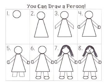 step by step how to draw a person teachers pay teachers 321 | 25413e330dc7b4cf309e0a8adb52639c drawing tutorials drawing ideas