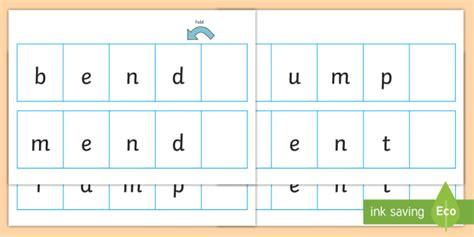 Phase 4 Cvc Cvcc Words Folding Strips Phase Four, Phase 4, Cvc, Folding