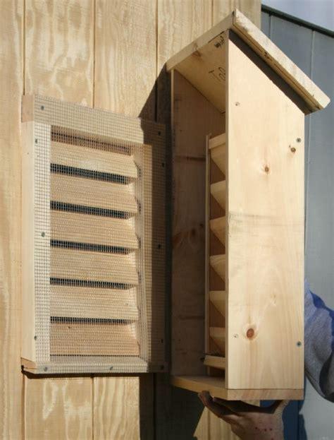 bat house suburban bat house installed   existing gable vent bat house plans bat