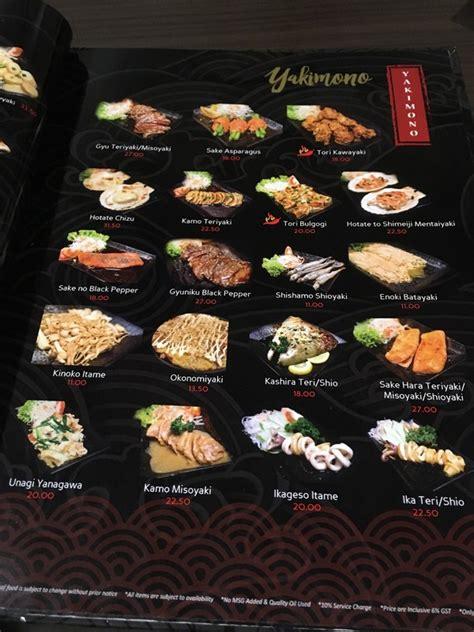 sushi fan cafe menu kobe sushi miri japanese restaurant menu with too many choices