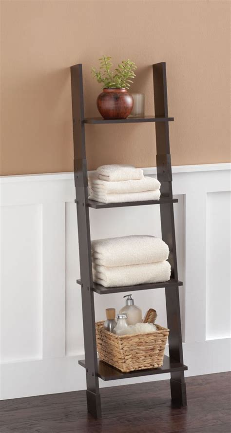 Zenith Ladder Style Linen Tower  Espresso  The Home