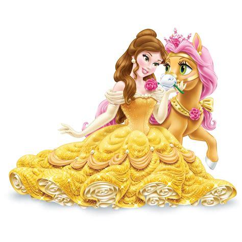 Amazoncom Disney Princess Palace Pets Glitzy Glitter, Belle's Pony Petit Toys & Games