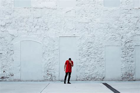 picture street wall urban man white exterior